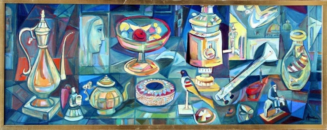 5: Irving Amen, Objet d'Art, Oil Painting