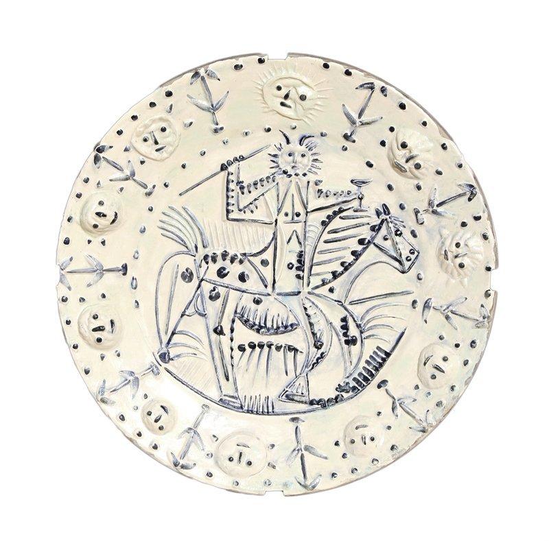 8: Pablo Picasso, Cavalier Faun (Ramie 337), Round Cera