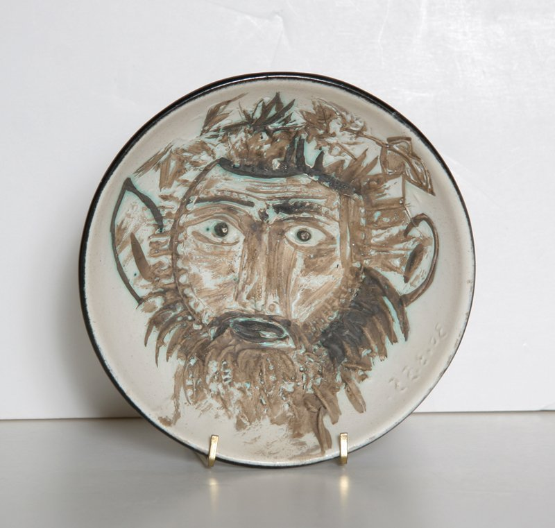 9: Pablo Picasso, Faun's Face, Round Cupel Ceramic Bowl
