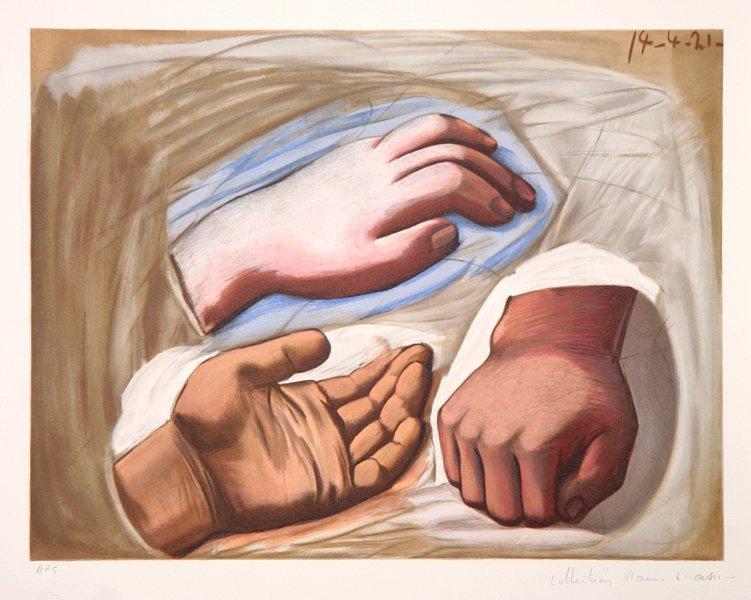 10: Pablo Picasso, Etude de Main, Lithograph
