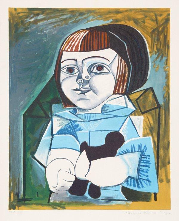 12: Pablo Picasso, Paloma en Bleu, Lithograph