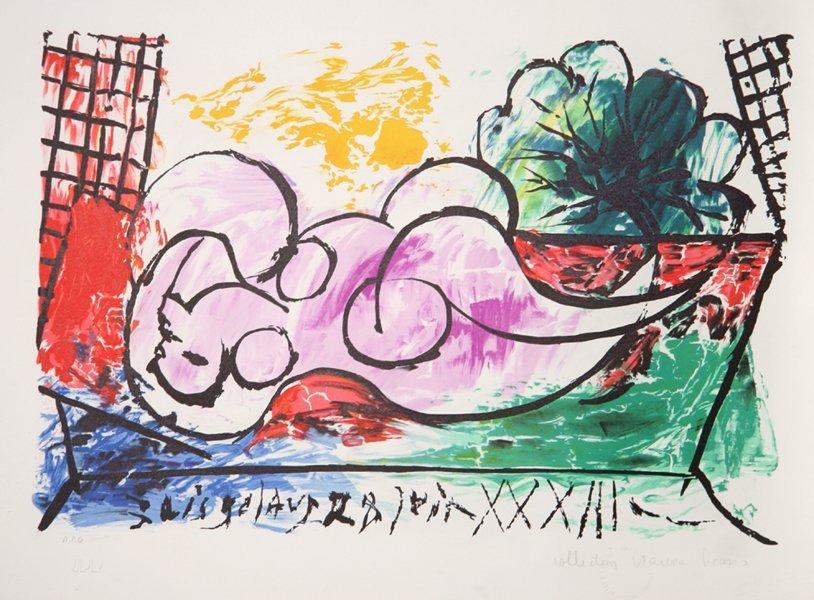 14: Pablo Picasso, Femme Endormie, Lithograph