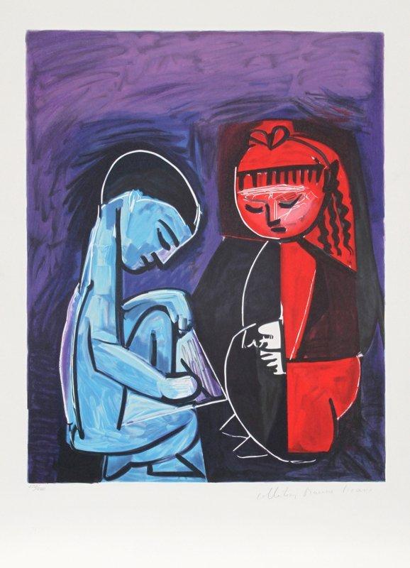 15: Pablo Picasso, Deux Enfants Claude et Paloma, Litho