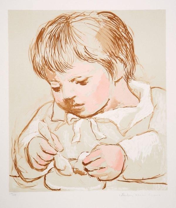 16: Pablo Picasso, Enfant Deieunant, Lithograph