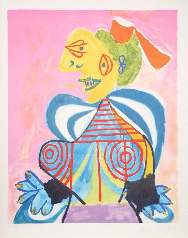 17: Pablo Picasso, L'Alesienne, Lithograph