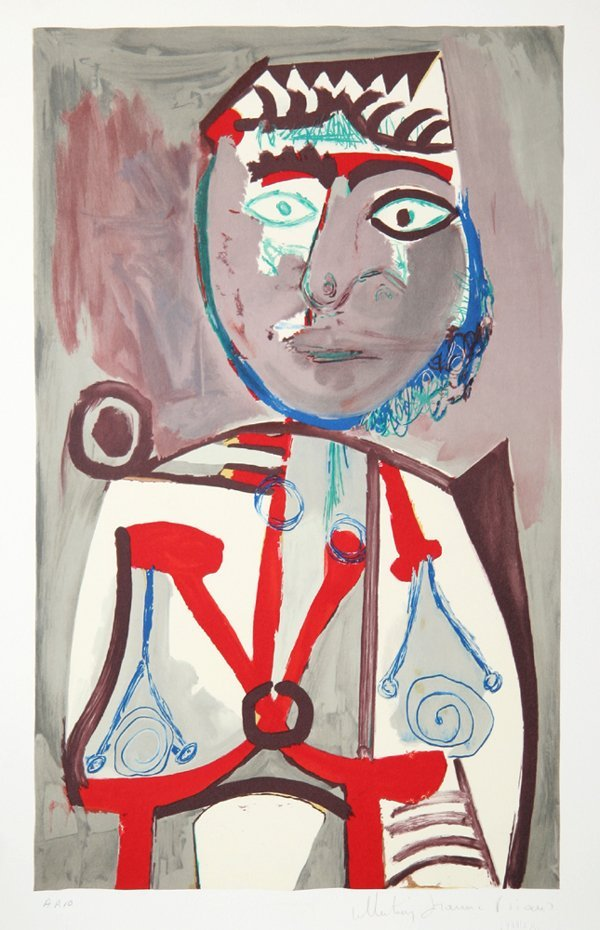 18: Pablo Picasso, Personnage, Lithograph