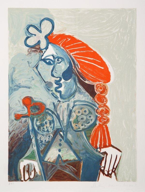 19: Pablo Picasso, La femme avec le Beret Rouge, Lithog