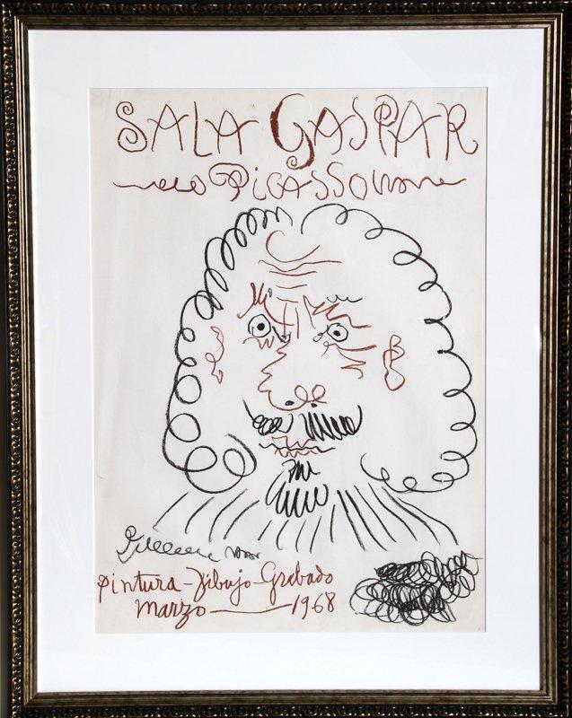 23: Pablo Picasso, Exhibition Sala Gaspar, Offset Litho