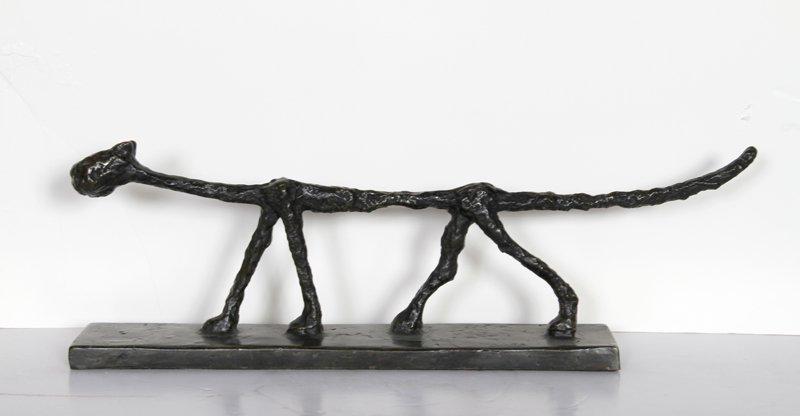 33: Diego Giacometti, Cat, Bronze Sculpture