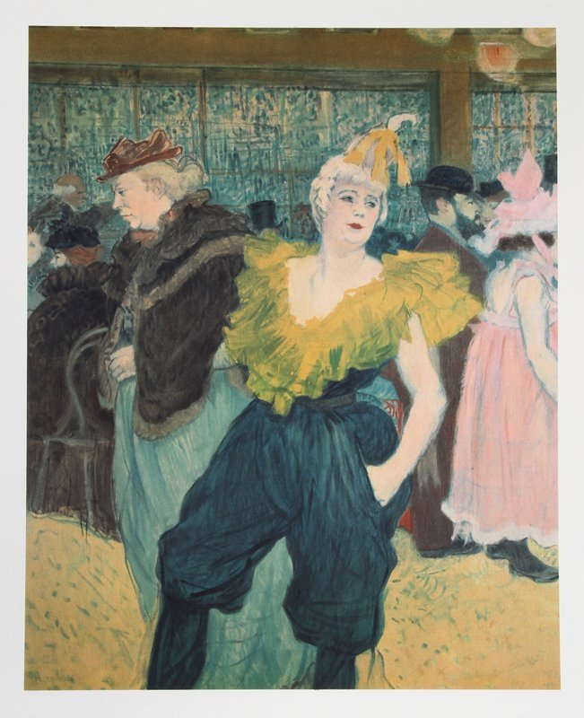 9: Henri de Toulouse-Lautrec, The Clownesse - Cha-U-Kao