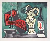 53: Pablo Picasso, Composition a la Mandoline, Lithogra