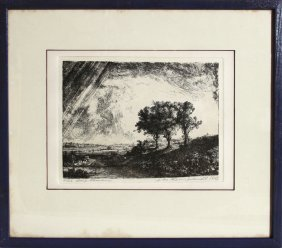 6: Rembrandt van Rijn, Three Trees, Etching