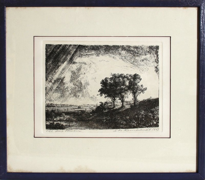 6: Rembrandt van Rijn, Three Trees, Etching