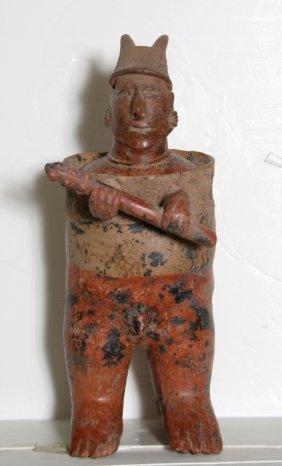 9: Pre-Columbian Large Nayarit Standing Warrior Terraco