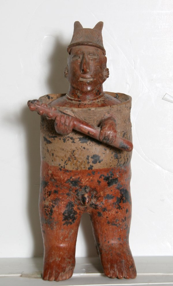 9: Pre-Columbian Large Nayarit Standing Warrior Terraco