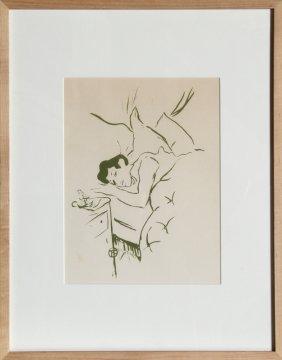 12: Henri de Toulouse-Lautrec, Ta Bouche, Lithograph