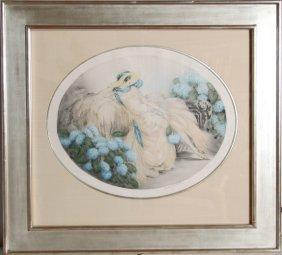 13: Louis Icart, Hydrangeas, Color Etching