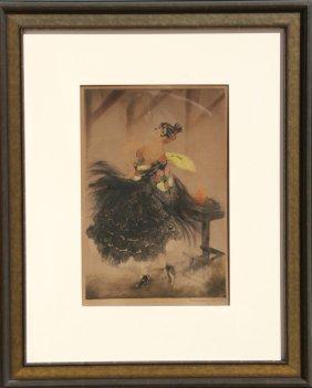 Louis Icart, Carmen, Color Etching