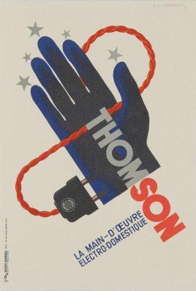 15: Adolphe Mouron Cassandre, Thomson, Lithograph Poste