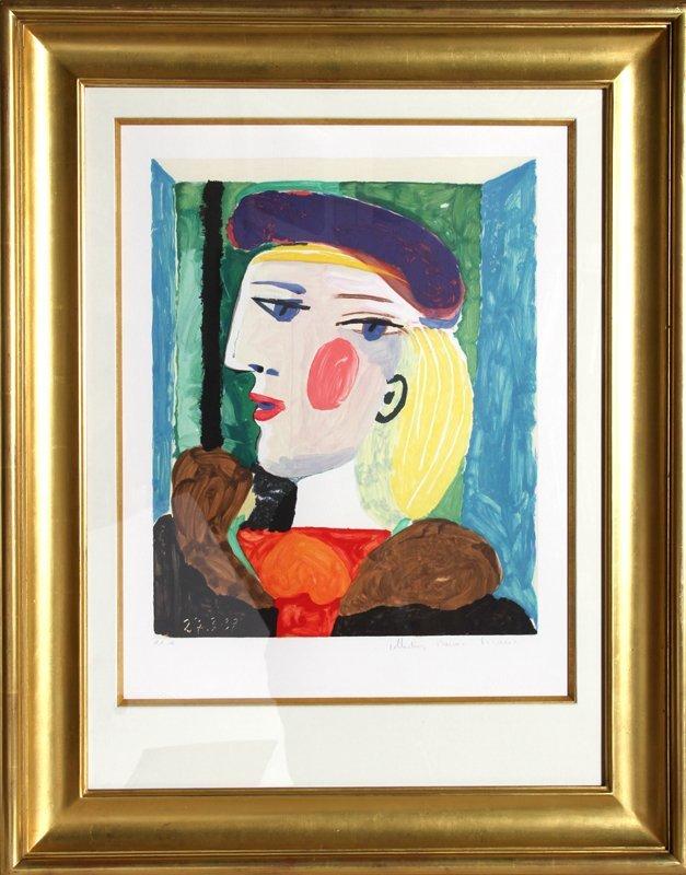 35: Pablo Picasso, Femme Profile, Lithograph