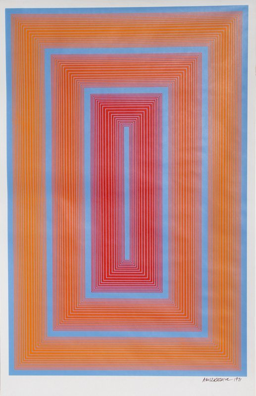 78: Richard Anuszkiewicz, Op-Art Silkscreen