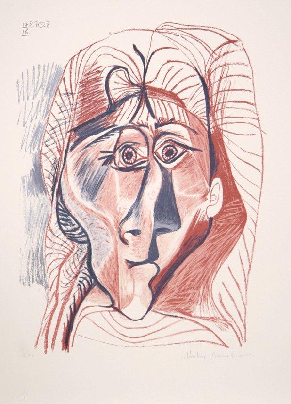 23: Pablo Picasso, Visage de Femme de Face, Lithograph