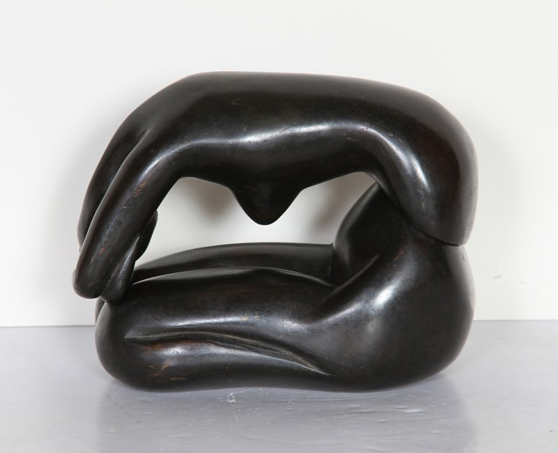 Lisa Fonssagrives-Penn, Curled Nude, Bronze Sculpture