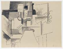 Pablo Picasso, Cubist Composition with Guitar, Lithogra