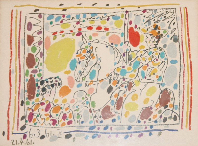 Pablo Picasso, Picador (At the Races), Lithograph