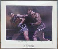 Robert Peak Joe Louis vs Max Schmeling Lithograph A