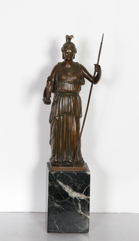 Arthur Bock, Athena, Bronze Sculpture