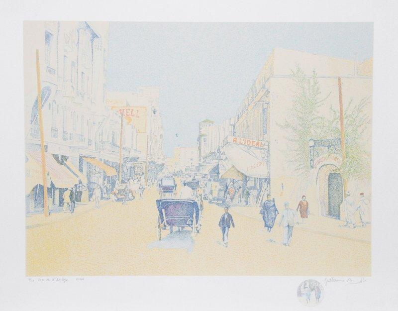 Guillaume Azoulay, Rue de L'Horlogue, Serigraph