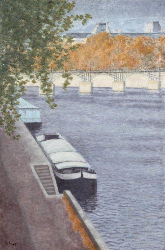 Laurent Marcel Salinas, Peniche a Aquai Devant le Pont
