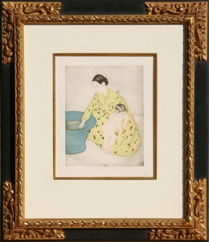Mary Cassatt, The Bath, Soft Ground Aquatint Etching