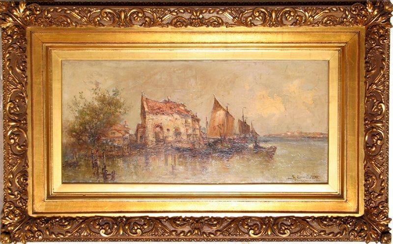 Santinetti, Venice, Oil Painting