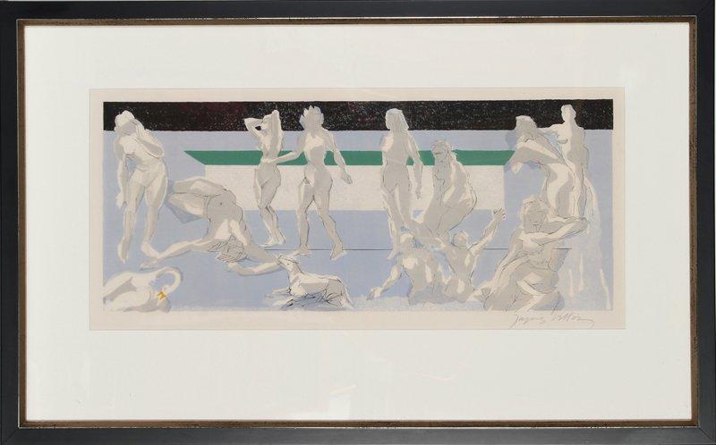 Jacques Villon, The Bathers, Lithograph