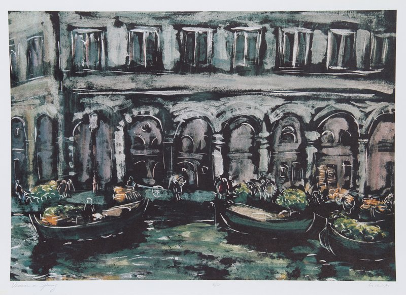 Bogdan Grom, Venice in Spring, Lithograph