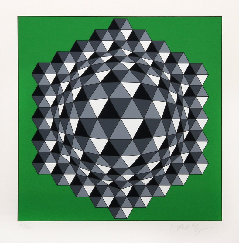 Victor Vasarely, Hegger, Serigraph