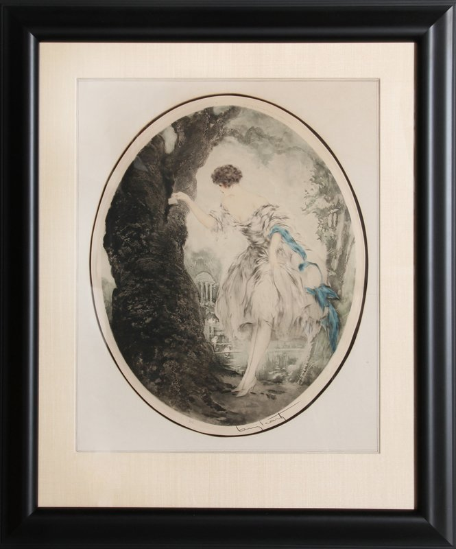 Louis Icart, Hiding Place, Etching