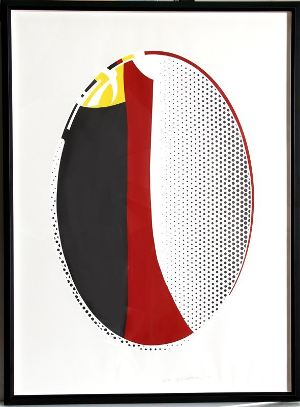 Roy Lichtenstein, Mirror #6, Lithograph and Screenprint