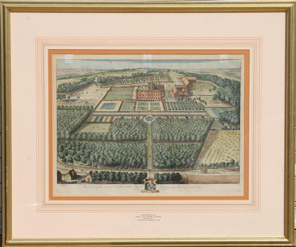 Johannes Kip, Maddingley the Seat of Sir John Cotton,