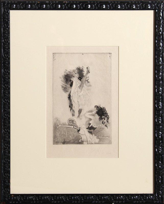 Louis Legrand, Le Chancre, Etching