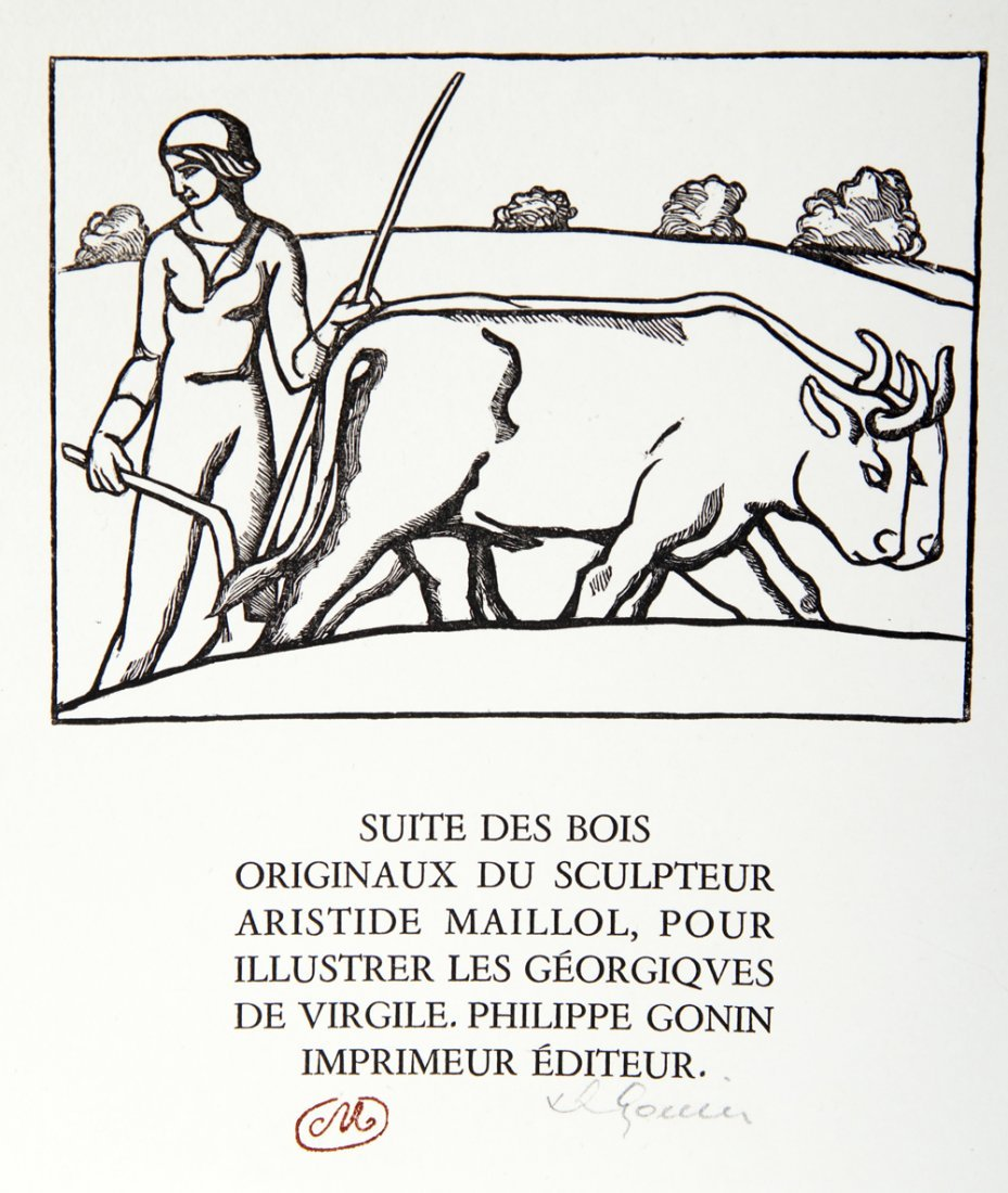 Aristide Maillol, Title Page from les Georgiques,