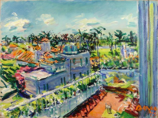 Dimitrie Berea, Palm Beach Florida, Oil Painting