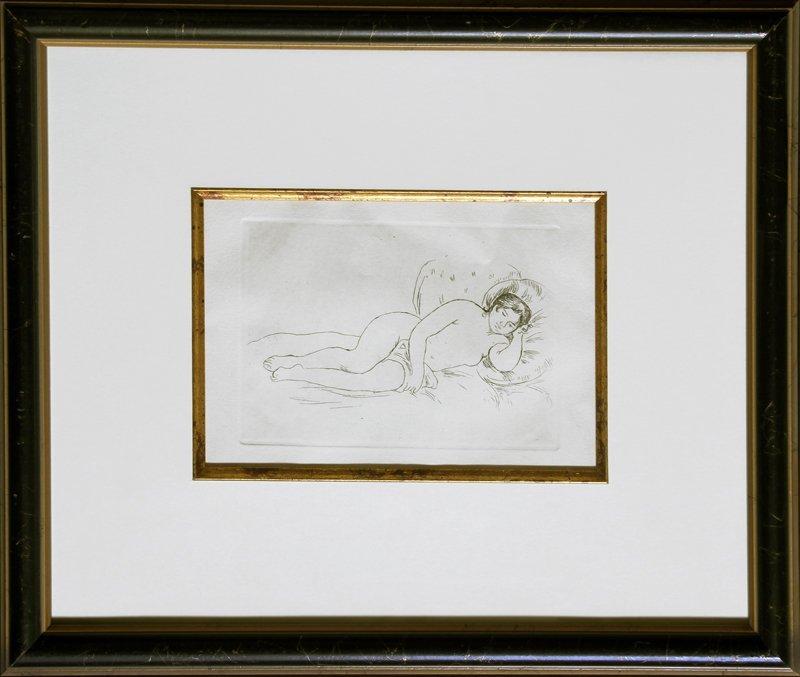 Pierre-Auguste Renoir, Reclining Nude, Etching