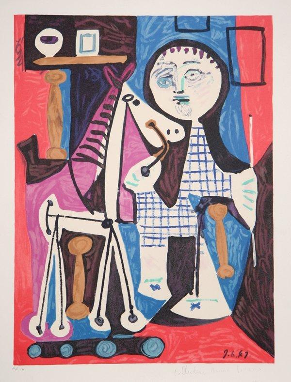 Pablo Picasso, Enfant avec Cheval a Toulettes,