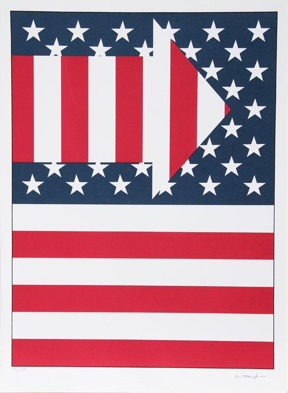 Paul von Ringelheim, American Flag III, Serigraph