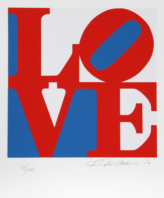 Robert Indiana, The Book of Love 5, Serigraph