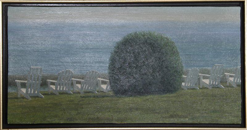 John Joseph Reboli, Front Row, Oil Painting