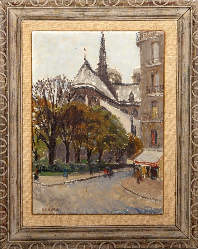Graves, Notre Dame 2, Oil Painting